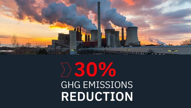 30% GHG Emissions Reduction